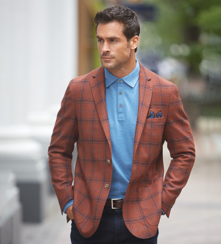 Peter Millar Autumn Plaid Soft Jacket