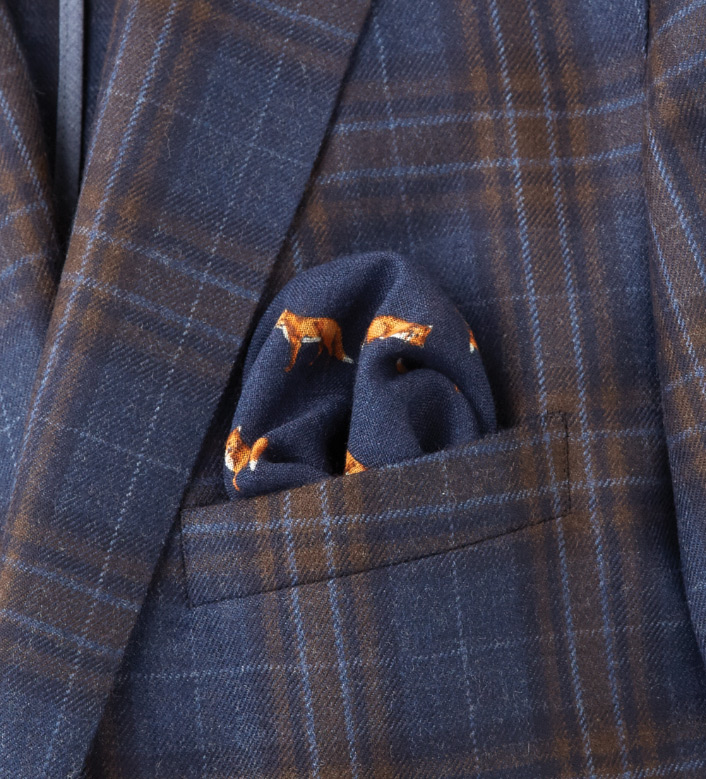 Peter Millar Navy Pocket Square