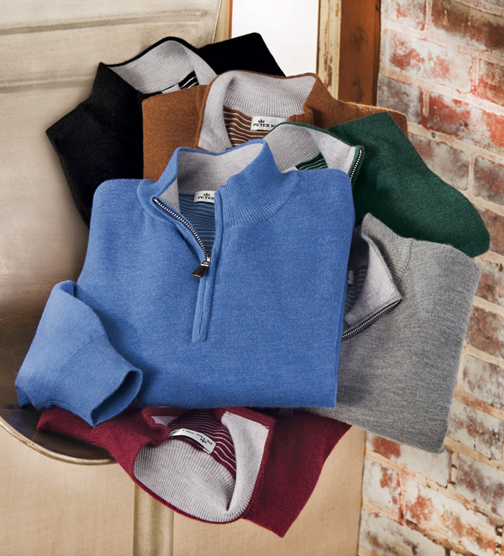 Peter Millar Crown Comfort Quarter-Zip Sweater