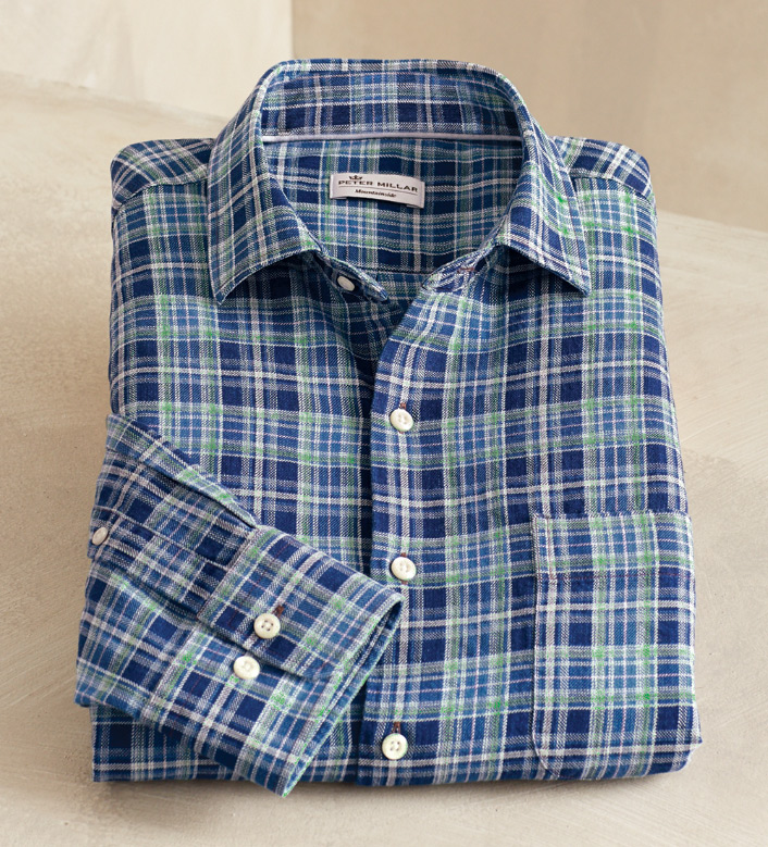 Peter Millar Appalachian Long Sleeve Check Sport Shirt