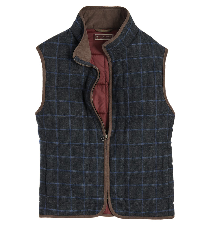 Patrick James Windowpane Vest