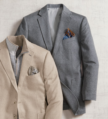 Heather Grey Cashmere Soft Sport Coat