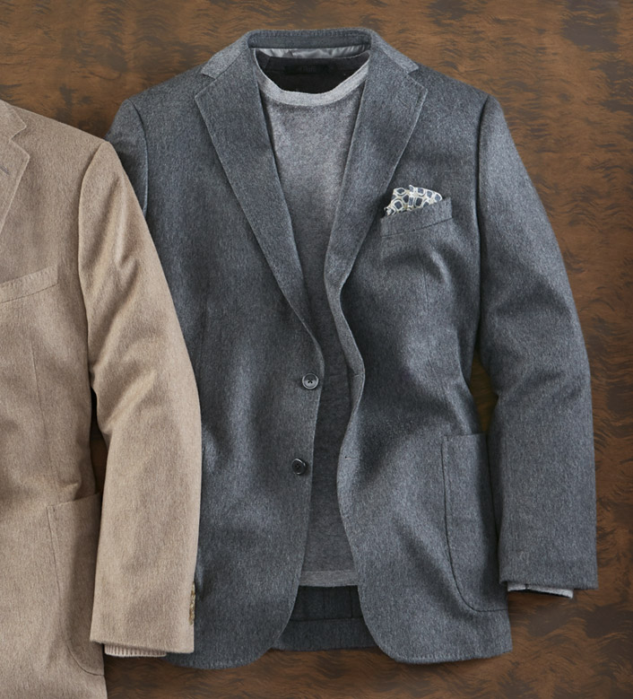 Reserve Heather Grey Cashmere Soft Sport Coat