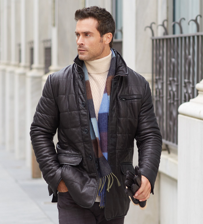 Reserve Leather Puffer Jacket