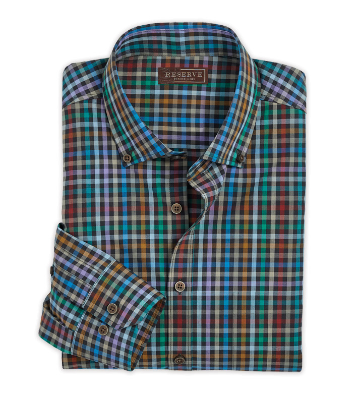 Reserve Multi Check Long Sleeve Sport Shirt