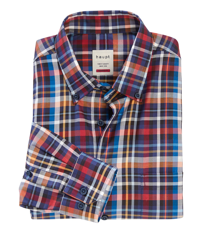 Haupt Plaid Twill Long Sleeve Sport Shirt