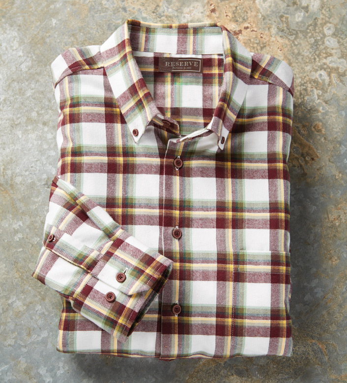 Reserve Plaid Long Sleeve Flannel Sport Shirt