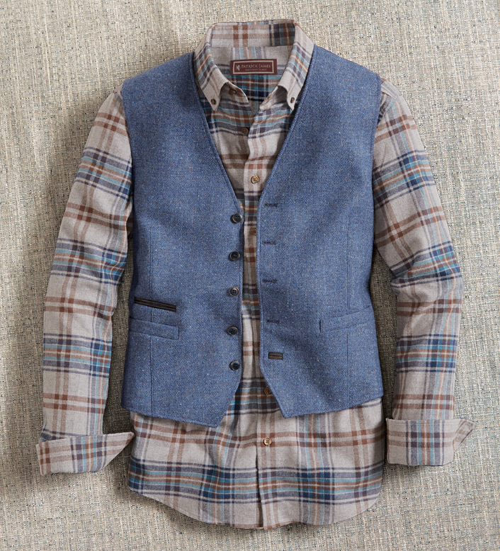 Patrick James Flannel Long Sleeve Sport Shirt