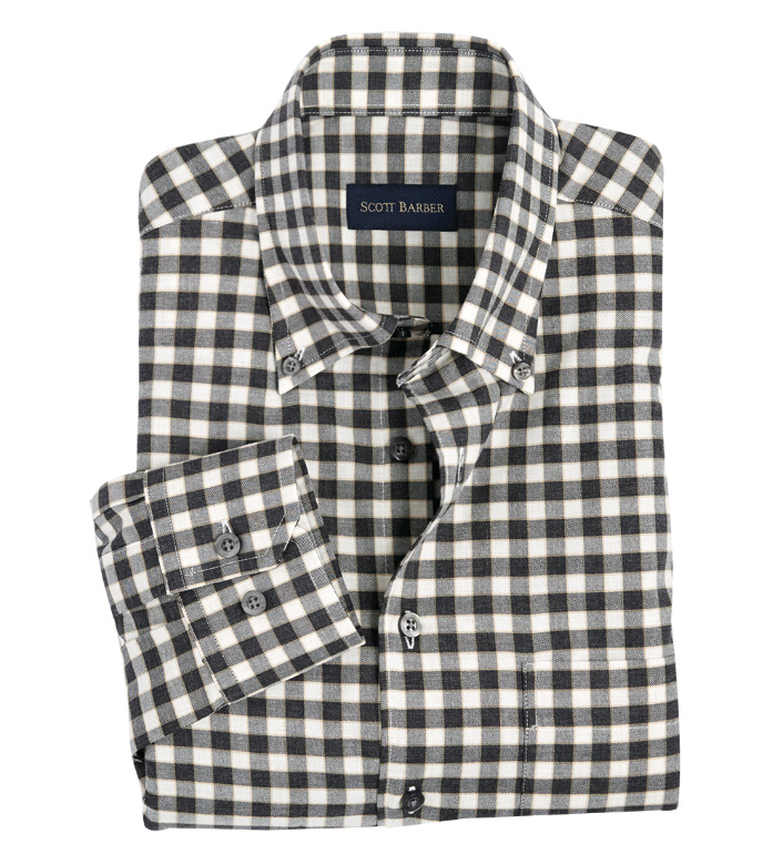 Scott Barber Tattersall Check Long Sleeve Sport Shirt