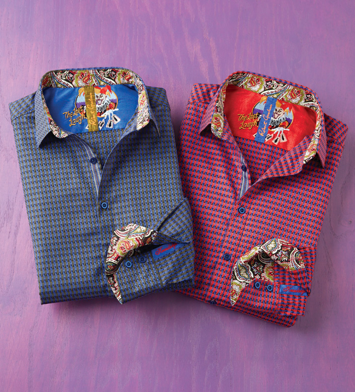 Robert Graham Dogwood Triangles Long Sleeve Sport Shirt