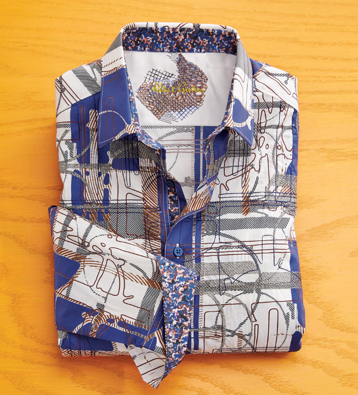 Robert Graham Orwell Abstract Long Sleeve Sport Shirt