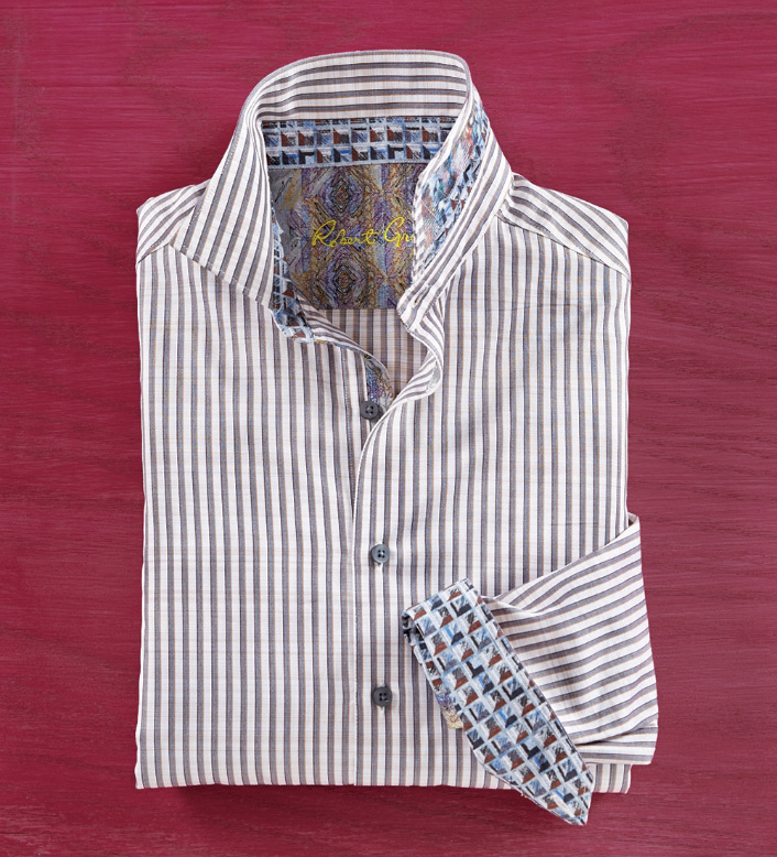 Robert Graham Marion Stripe Long Sleeve Sport Shirt