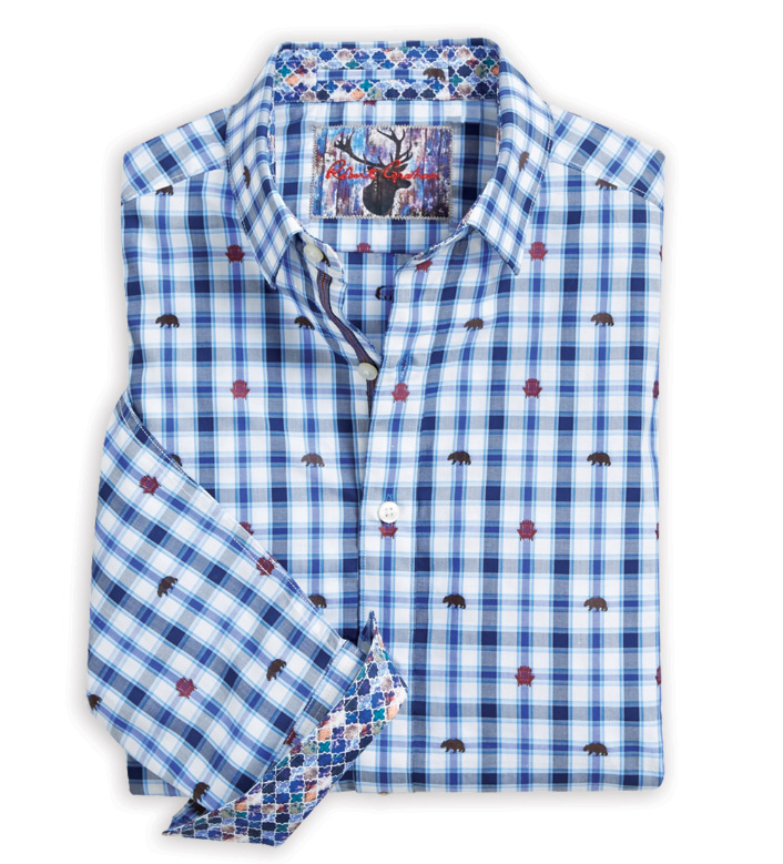 Robert Graham Bears and Chairs Embroidered Long Sleeve Sport Shirt