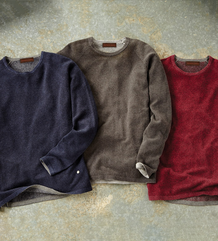 Patrick James Reversible Cashmere Sweater