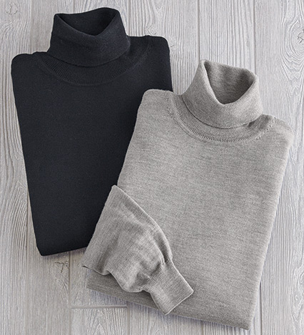 Australian Wool Turtleneck Sweater