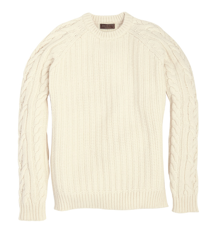 Reserve Cable Knit Crewneck Sweater