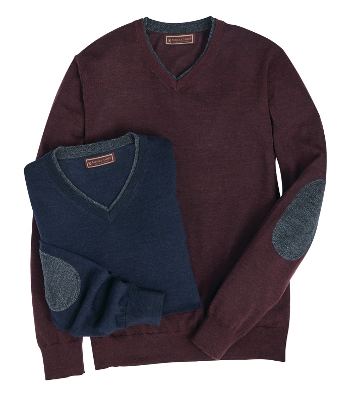 Patrick James Double V-Neck Sweater