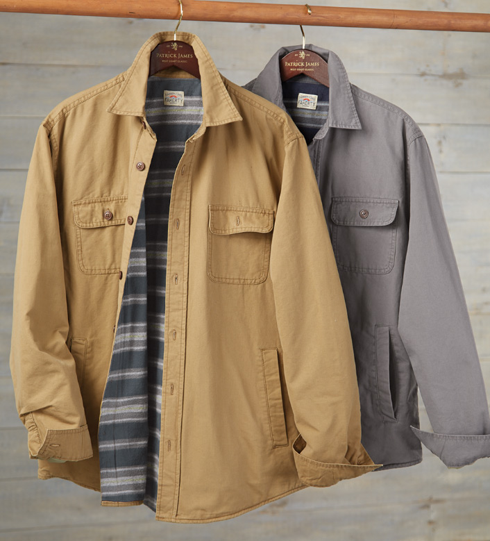 Faherty Blanket-Lined Shirt Jacket