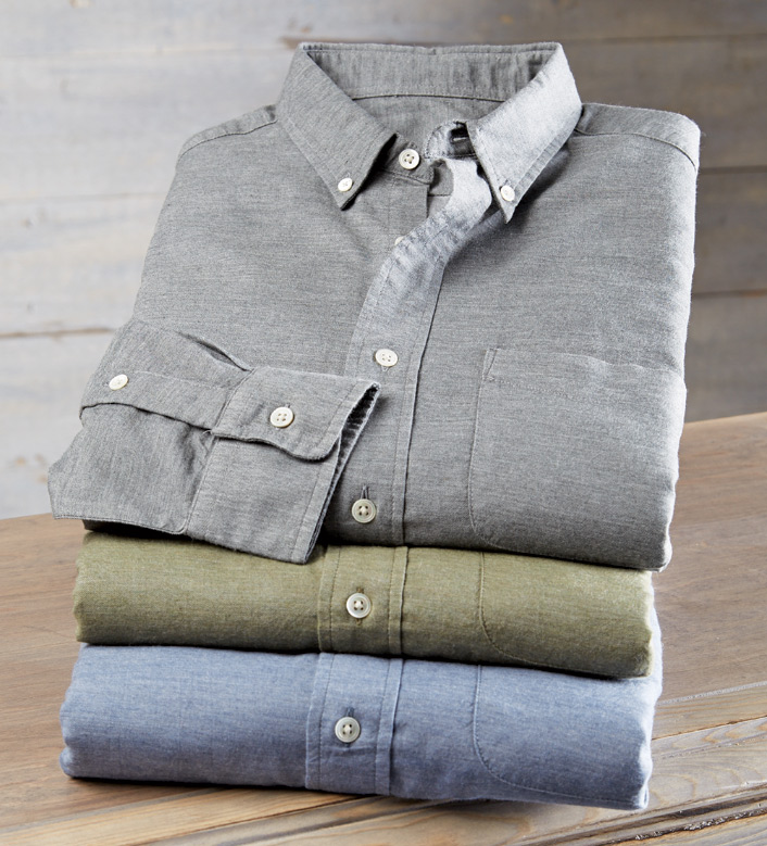 Faherty Ventura Chambray Long Sleeve Sport Shirt