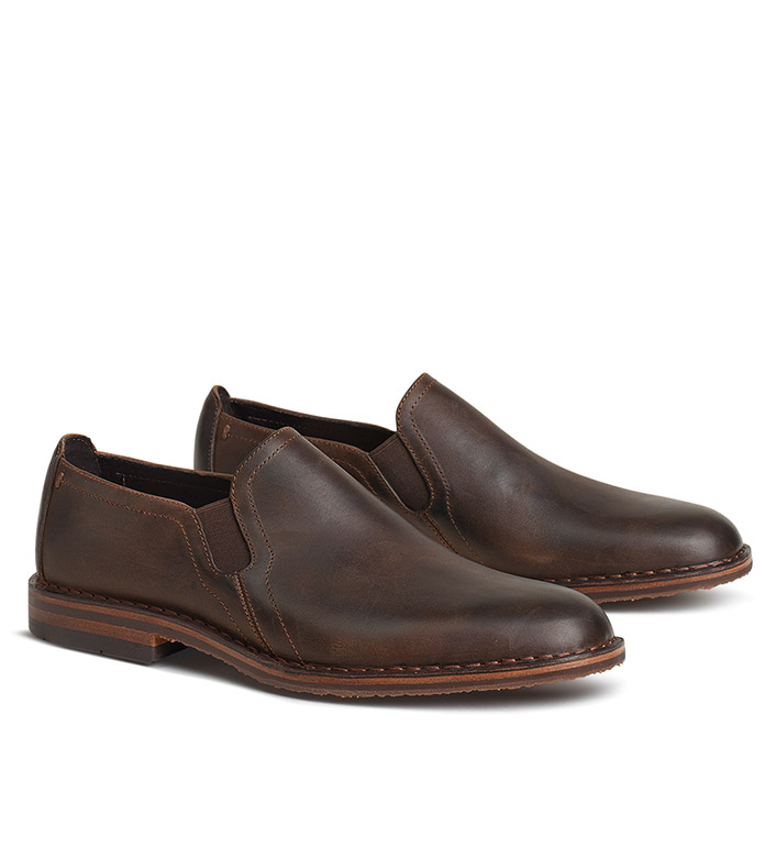 Trask Brown Blaine Slip On Shoes