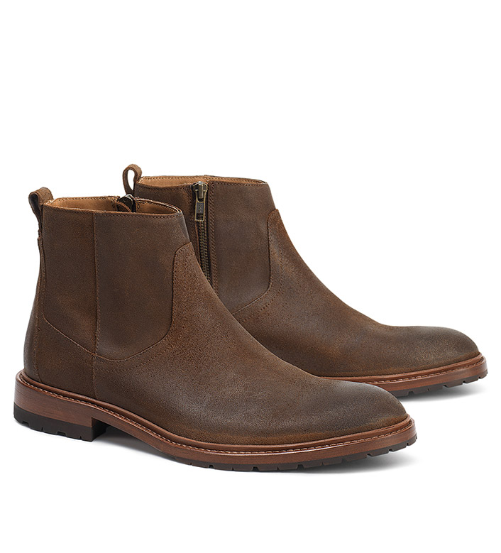 Trask Larkin Brown Suede Boots