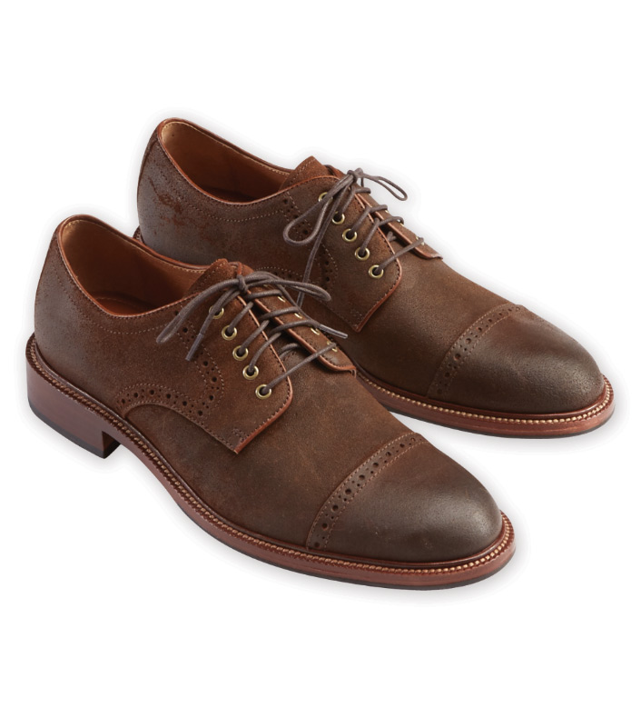 Trask Linwood Brown Suede Shoes