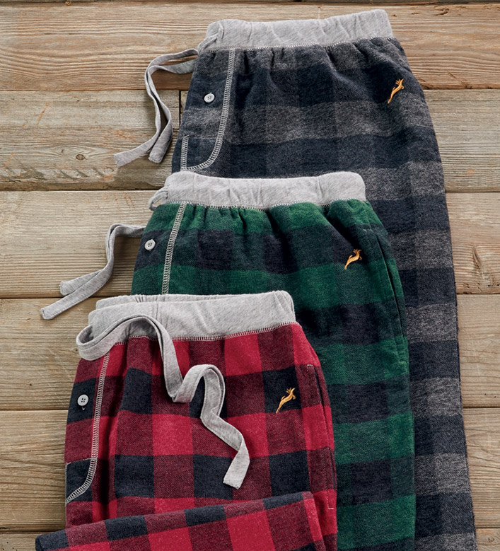 True Grit Buffalo Check Flannel Pants