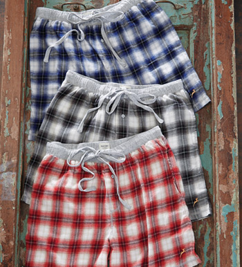 Shadow Plaid Flannel Boxers