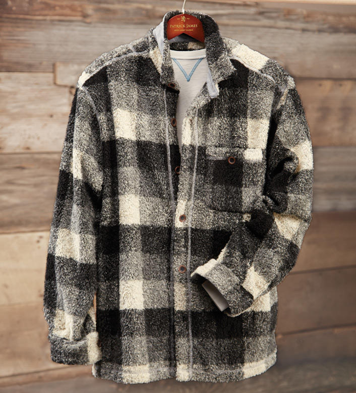 True Grit Buffalo Plaid Grey Big Shirt