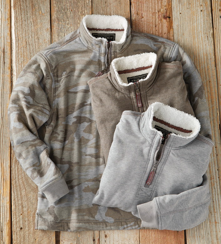 True Grit Vintage Heather Quarter-Zip Pullover