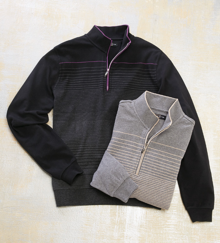 Carnoustie Quarter-Zip Stripe Pullover