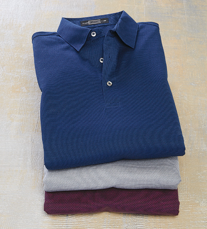 Carnoustie Jacquard Long Sleeve Polo