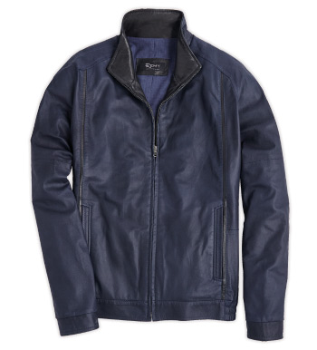 Navy Blouson Jacket