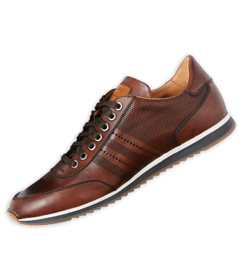 Merino Brown Leather Sneakers