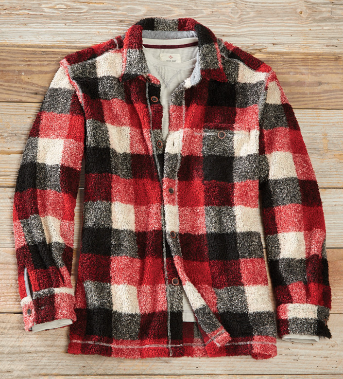 True Grit Buffalo Plaid Big Shirt