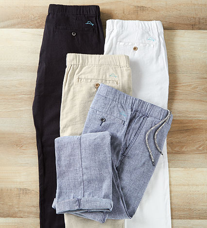 Beach Linen Stretch Pants