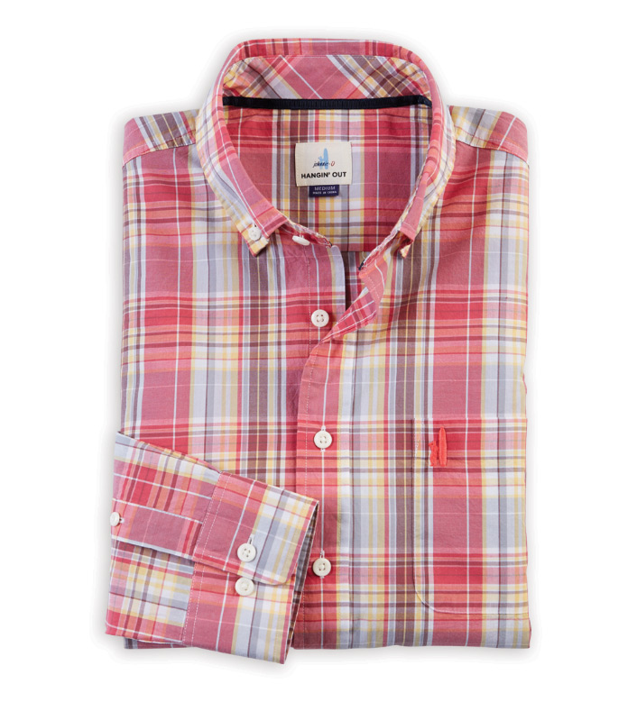 Johnnie-O Glenn Plaid Long Sleeve Sport Shirt
