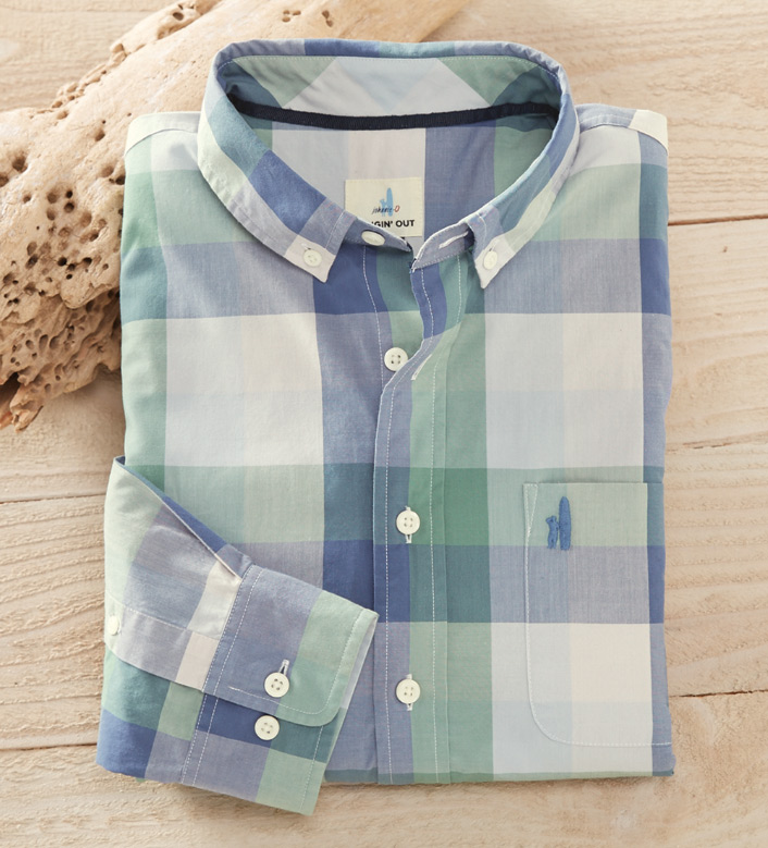 Johnnie-O Dogwood Check Long Sleeve Sport Shirt