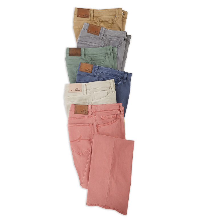 34 Heritage Courage Fit Twill 5-Pocket Jeans
