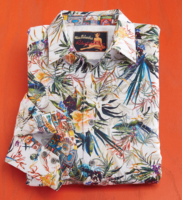 Robert Graham Botanics Long Sleeve Sport Shirt