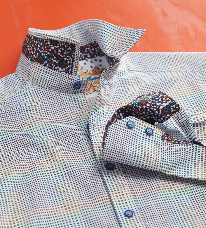 Robert Graham Sierra Mini Squares Long Sleeve Sport Shirt