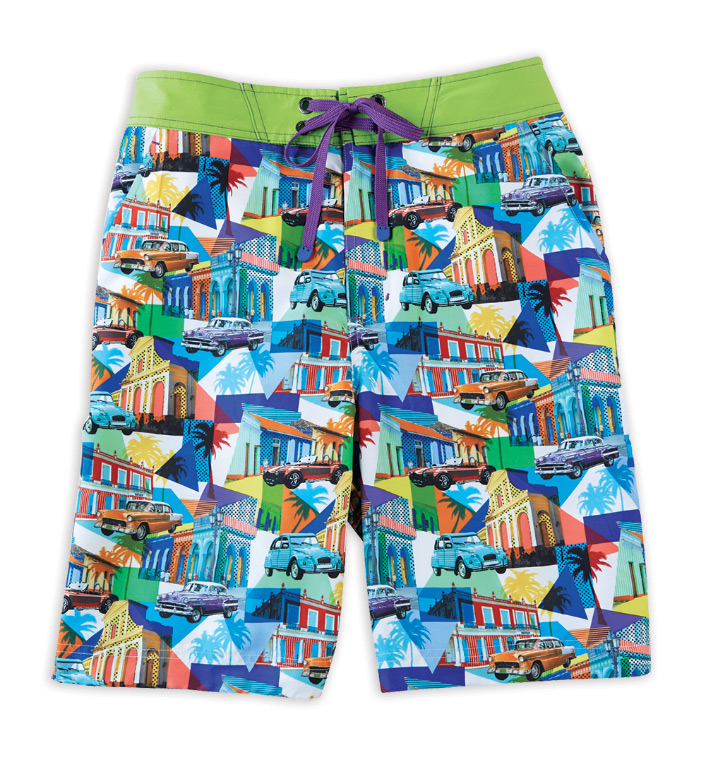 Robert Graham Mambo Car Print Board Shorts