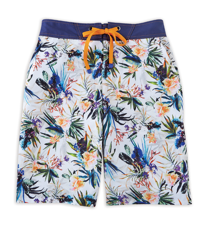 Robert Graham Rumba Bird of Paradise Floral Board Shorts