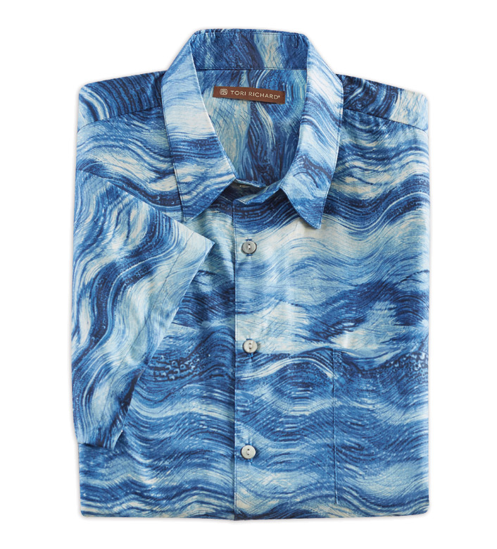 Tori Richard Seascape Short Sleeve Camp Shirt