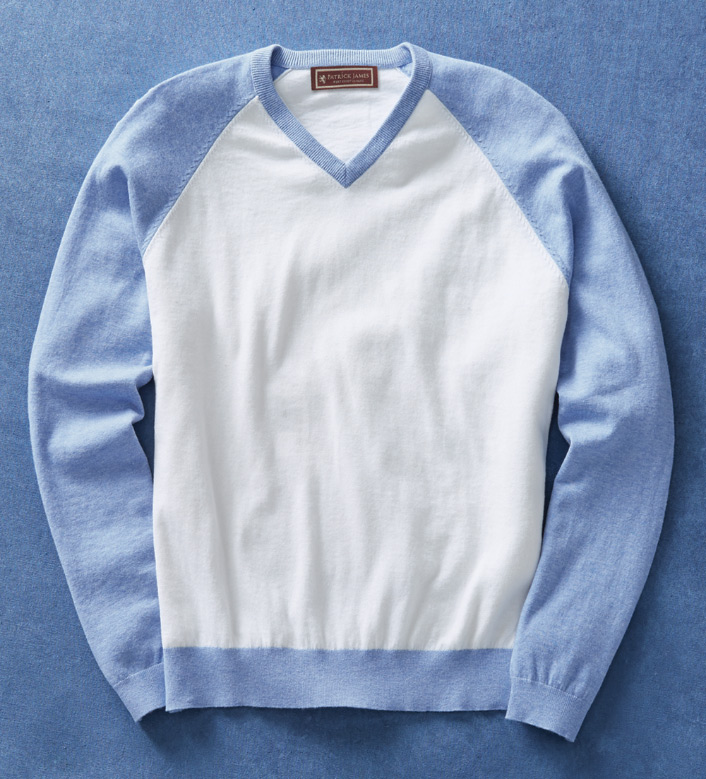 Patrick James Colorblock Sweater - Blue