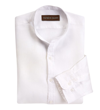 White Linen Long Sleeve Sport Shirt