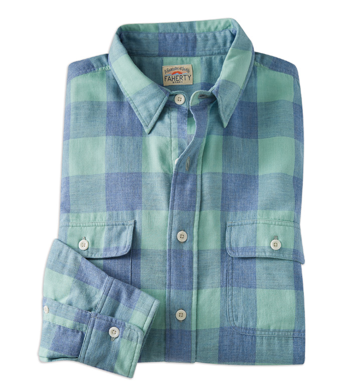 Faherty Belmar Buffalo Check Long Sleeve Sport Shirt