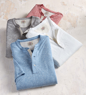 Short Sleeve Henley Shirt