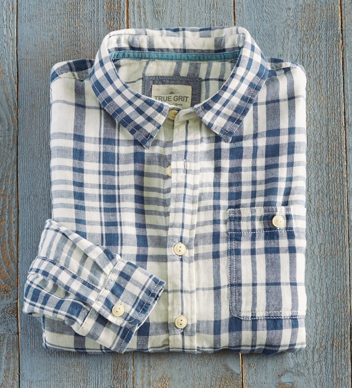 True Grit Big Sur Plaid Long Sleeve Sport Shirt