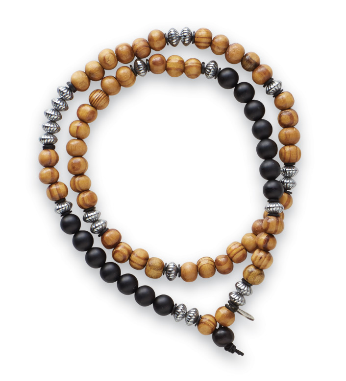 Kenton Michael Olive Wood Wrap Bracelet